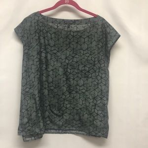 Eileen Fisher grey/black size M blouse